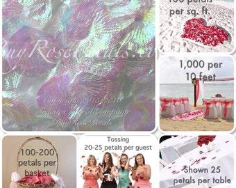 500 Opal Rose Petals - Silk Rose Petals for Weddings- Artificial Rose Petals