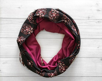 Baroque Infinity scarf- cicrle scarf, cowl neck scarf, womens, childrens, toddler, baby scarf - limited edition winter scarf