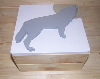 Wolf Box | Trinket Box | Craft Box | Memory Box | Keepsake Box | Jewellery Box