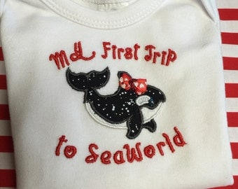 First trip to SeaWorld embroidered shirt