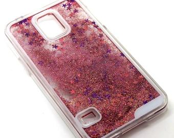 Samsung Galaxy S5 i9600 Twinkle Stars Moving Glitter Case