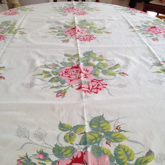 Vintage Rose Tablecloth Bikini Teens Japanese