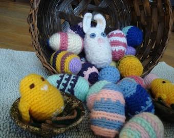 Easter Eggs, Bunny & Chicks