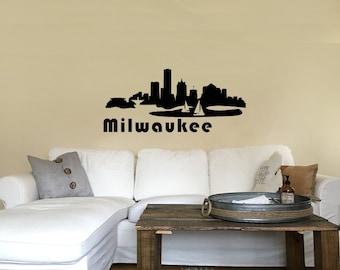 Milwaukee Skyline Solid - Vinyl Decal