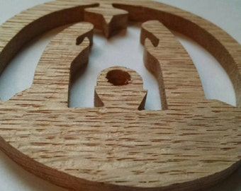 Handmade nativity scene Christmas Ornament