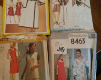 Set of 4 1971 Ladies Wear Sewing Patterns 3 Simplicity 1 Butterick Brand.