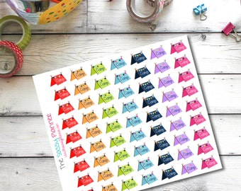 G3 Summer camp camping tent planner stickers for Erin Condren Life Planner