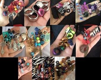 dreads rings decoration hippy goa festival