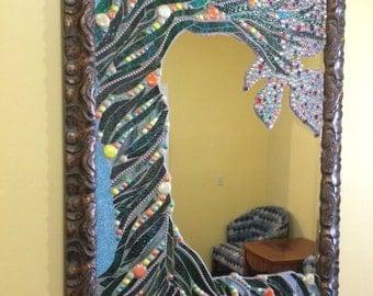 Tree of Life, glass mosaic mirror