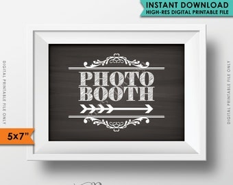 Photobooth Sign Directions to the RIGHT, Point to Photobooth Directions Arrow to Photo Booth Chalkboard, Instant Download Digital Printable