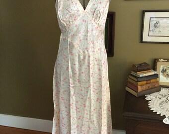 1940's Rayon Satin Bias Cut Nightgown
