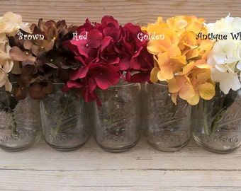 Add Hydrangeas for Pint Jars to Your Order!! Smaller Bloom Perfect for Pint Mason Jars :)