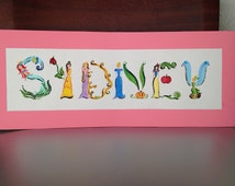 Princess name painting