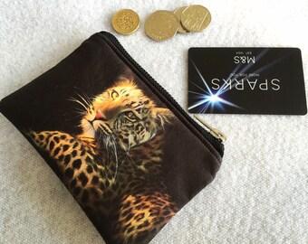 Coin purse! Leopard coin purse! Leopard money purse!