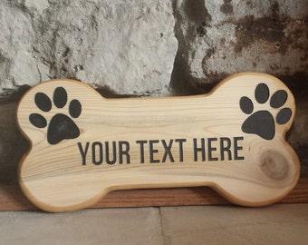 Dog Bone Sign, Pet Gift, Personalized Sign, Dog Sign, Custom Signs, Wood Dog Bone, Cedar Sign, Gift Ideas, Dog Lover