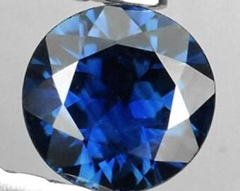 Natural Blue Sapphire Round AAA Diamond Cut Loose Gemstones (1.2mm - 6mm)