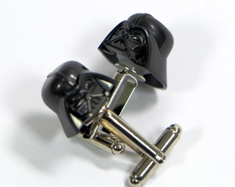 Darth Vader Cufflinks - Star Wars Cuff Links - Nerdy Gift Idea For Him - Birthday Gift For Him - Present For Men - Sci-fi Cufflinks