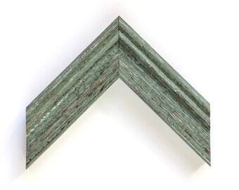 Distressed Green Frame, Custom Framing Sizes, Farmhouse Decor, Wall Decor, Shabby Chic Frame