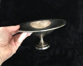 ON SALE SILVER Pedestal Bowl Oneida silver plated pedestal dish french farmhouse siver pedestal dish