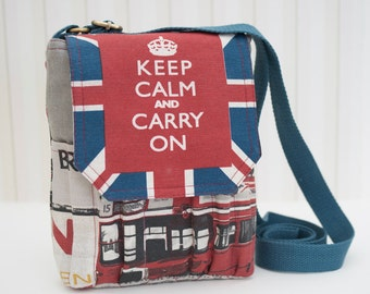 KEEP CALM And CARRY On sketchbook bag
