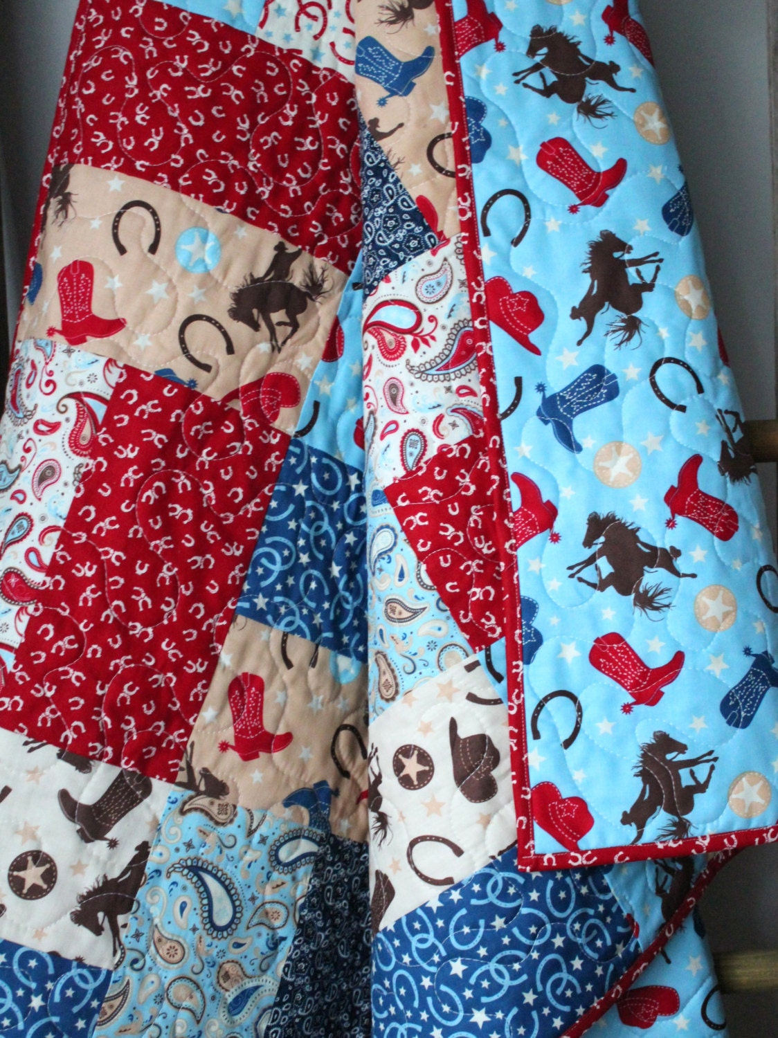 Baby Boy Quilt Rodeo Nursery Bedding Cowboy Quilt By