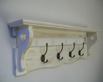 Shabby Chic shelf for coats