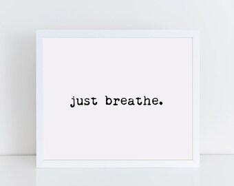 Just Breathe Etsy