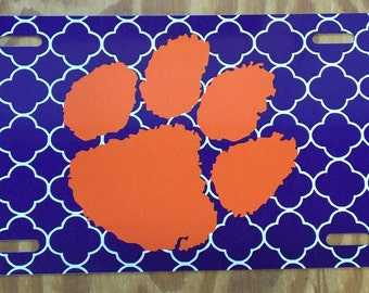 Clemson car tag Clemson license plate Clemson tigers