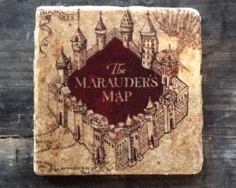 HP The Marauder's Map Coaster or Decor Accent (No Seam)