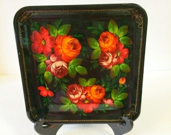Hand Painted Toleware Tray