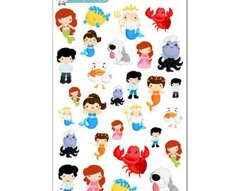Little Mermaid Stickers - Disney Planner Stickers