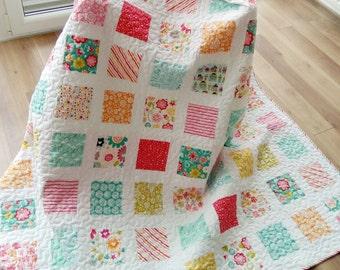 Custom quilt /Twin Quilt / Modern Quilt / Homemade Quilt / Patchwork Quilt / Patchwork blanket