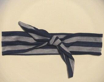 Navy and Grey infant headband