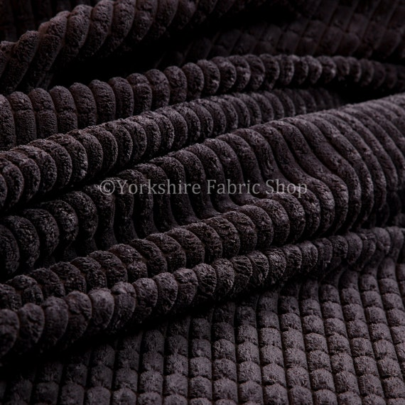 10 metres of new quality brick effect soft cord corduroy fabric in purple colour ideal for sofas. Black Bedroom Furniture Sets. Home Design Ideas