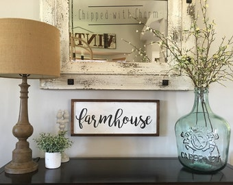 Farmhouse Sign, Wood Framed Farmhouse Sign, Farmhouse Decor, Home Decor