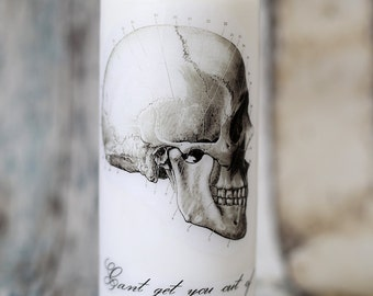 Anatomical Skull pillar candle