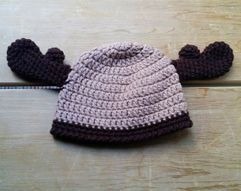 Baby Moose Hat, Moose Hat, Antler Hat, Baby Antler Hat, Winter Hat, Crochet Hats for Babies, Toque, Moose Toque