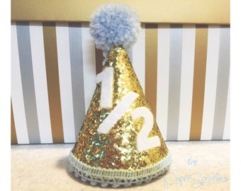 Baby Boy Six Months Cone Hat