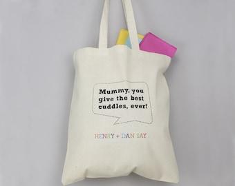 Speech Bubble Tote Bag - Book Bag - Grocery Bag - Shopping Bag - Kids' Bag - Personalised