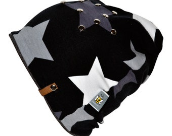 Beanie * black stars *.