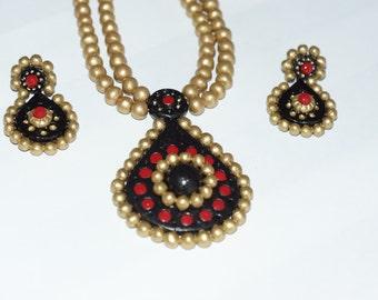 Unique design terracotta jewelry terracotta jewelry set