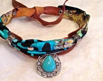 FREE SHIPPING!!! leather bib necklace,boh,hippie,chic,gypsy,vintage,ethnic,collar babero,piel,étnico