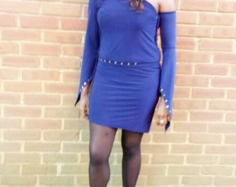 Blue fashion dress SDZ0020