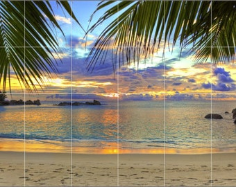 Ceramic Tile Mural- Sundown Beach