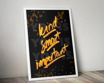 Kind, Smart, Important Poster