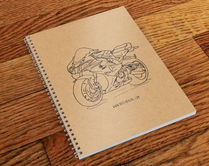 Motorcycle Notebook - A5 | Motorcycle Journal  | Motorbike Notebook | Workshop Notebook | BMW S1000RR Motorcycle Journal