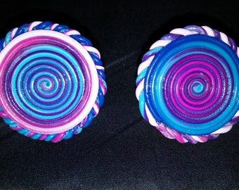 Polymer Clay Ombre Sprial Ring