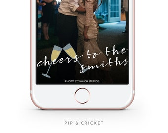 Personalized Wedding Snapchat GeoFilter: Cheers to the Years