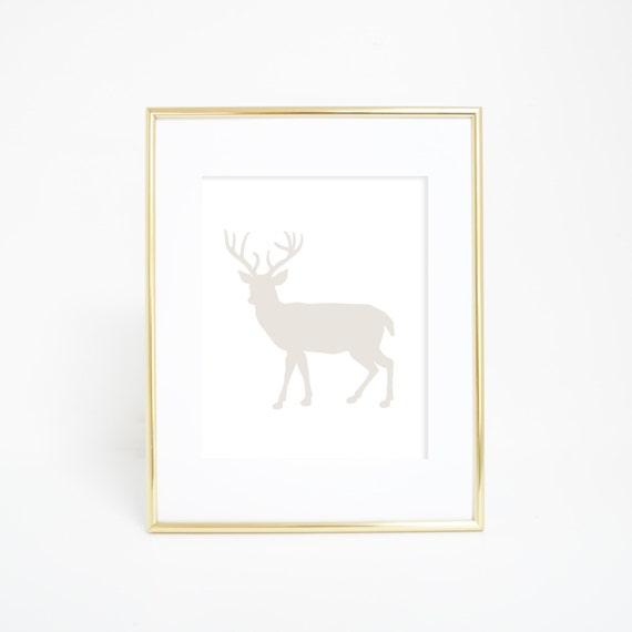Deer Print, Deer Artwork, Woodland Decor, Deer Art, Woodland Nursery, Printable Wall Art, Deer Print, Deer Wall Print, Digital Printable Art