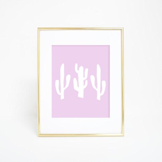 Cactus Print, Lavender Print, Purple Wall Art, Cactus Wall Art, Baby Girl Nursery, Nursery Print, Printable Wall Art, Instant Download
